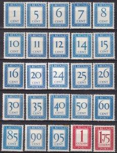 Netherlands #J80, J83-106  MNH CV $35.80 (Z8153)