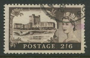 STAMP STATION PERTH Great Britain #371 QEII Castle Definitive Used CV$0.40.