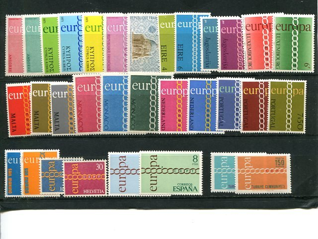 Europa CEPT 1971  almost complete incl Portuga and Andorra  VF NH