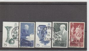 Sweden  Scott#  981-985  Used  (1972 King Gustaf VI Adolf)