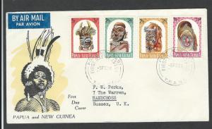 Papua  New Guinea    FDC  sc# 178 - 181