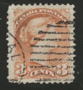 CANADA Scott 37b copper red Queen Victoria 1870 CV$60