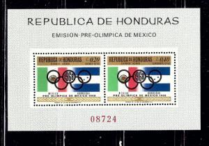 Honduras C435a MNH 1968 Olympics S/S
