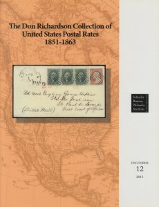 Don Richardson Collectioin of US Postal Rates 1851-63. Schuyler Rumsey Catalogue