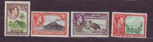 J23734 JLstamps 1939-51 solomos islands mh some hv,s of set #73,76-8 king views