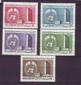 J24056 JLstamps 1965 lebanon set mnh #c448-52 united nations