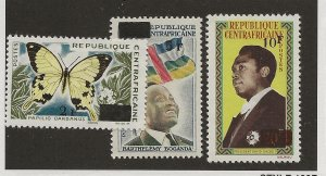 Central African Rep. 58-60 Set. MH