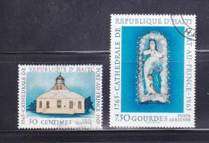 Haiti C246, C248 U Cathedral Of Port Au Prince