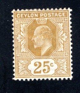 Ceylon #173,  F/VF, Unused, Original Gum, CV $6.00 ....  1290526