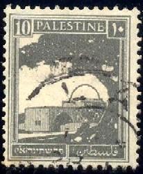 Rachel's Tomb, Palestine stamp SC#73 used