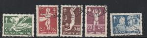 Finland Sc B82-86 19747 Anti TB Babies charity stamp set used