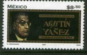 MEXICO 2346, AGUSTIN YANEZ, NOVELIST, CENTENARY OF HIS BIRTH. MINT, NH. VF.