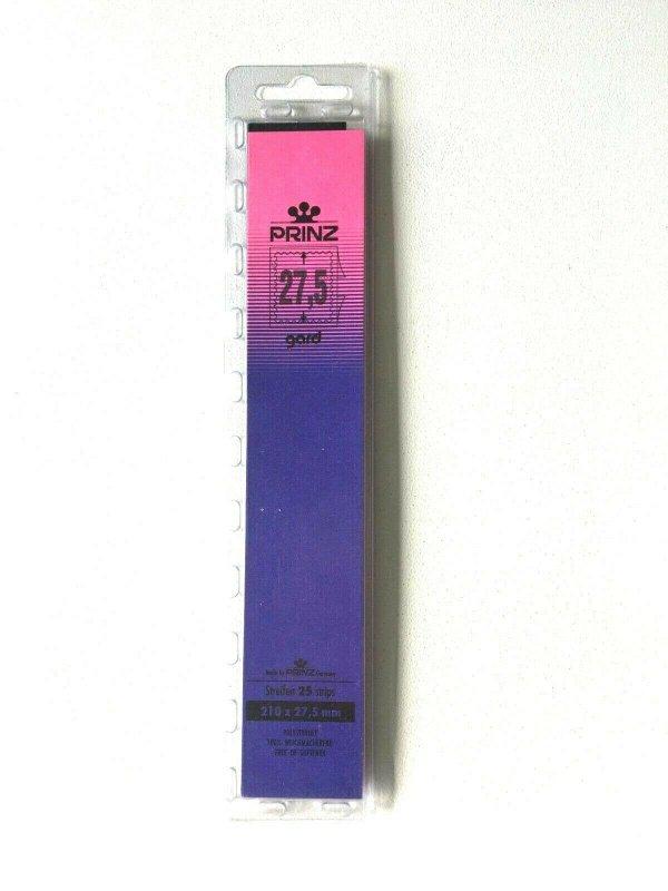 25pcs PRINZ Gard Stamp Strip Mounts Pre Cut Strips (27.5 x 210mm)