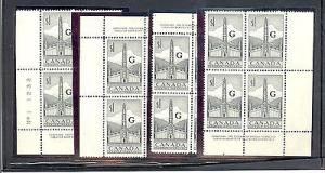 Canada  #032 Matched  set Plate Block VF NH -  Lakeshore ...
