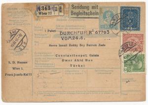 Austria Scott #164 #157 #113 on Postal Stationery Cover to Turkey
