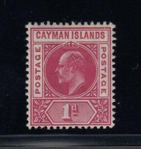 Cayman Islands, SG 9 var, MLH Slotted Frame variety