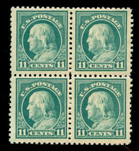 momen: US Stamps #511 Block of 4 Mint OG NH VF