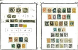 Brazil 1844-1977 M & U Hinged & in Mounts on Scott Specialty Pages in Binder