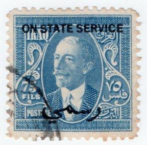 (I.B) Iraq Postal : On State Service 75f