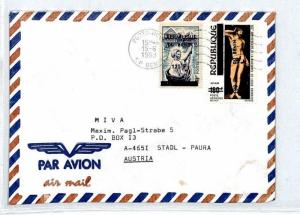 Burundi Cover INFLATION SURCHARGE Missionary Vehicles Air Mail MIVA 1991 CM21