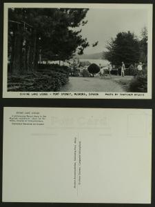 Divine Lake Lodge Grounds Muskoka RPPC Thatcher c1960