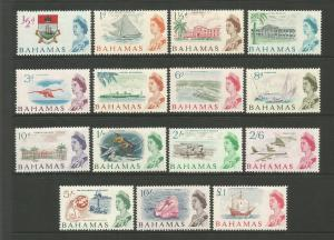 Bahamas 1965 Complete Set Of 15 Stamps to £1 MNH Cat Val £50 SG247-SG261