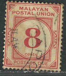 Malaya J9 SG D9 Used VF 1936 SCV $5.00