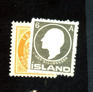 Iceland #22,89 MINT FVF OG LH Cat$25.50