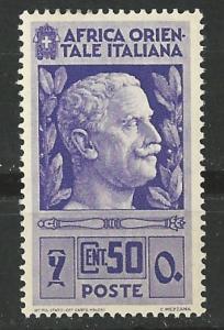 Italian East Africa # 10 Victor Emmanuel III  (1) Unused VLH