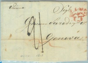 88817 - AUSTRIA - POSTAL HISTORY - Prephilatelic COVER from WIEN to ITALY 1818