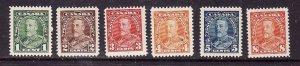 Canada-Sc#217-22-Unused hinged 1c-8c KGV Pictorial-og-1935-Cdn904-