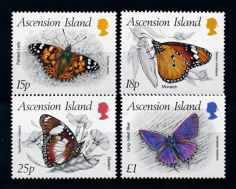 [70656] Ascension 1987 Insects Butterflies  MNH