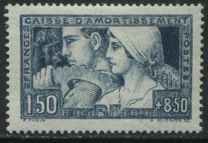 France 1928 1f50 + 8f50 Semi Postal mint o.g. hinged