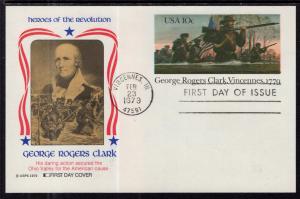 US UX78 George Rogers Clark Postal Card Fleetwood U/A FDC