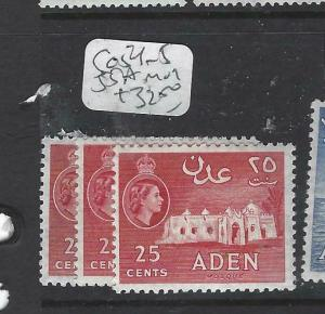 ADEN (P0204B)  QEII   25C  SG 54-5, 55B  MOG