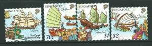 SINGAPORE SG980/3 1999 MARITIME HERITAGE  MNH
