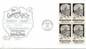 US FDC #1526 Frost Block, Artopages (0145)