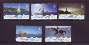 Guernsey Sc 875-9 2005 Sea Guernsey stamp set mint NH