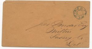US Stampless Cover Baltimore, MD Paid Double Circle Blue Cancel