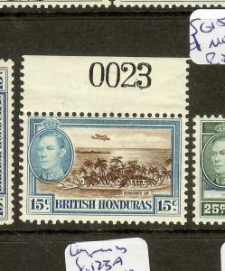 BRITISH HONDURAS (B1201) KGVI  15C  SG156 SHEET NO 0023    MOG