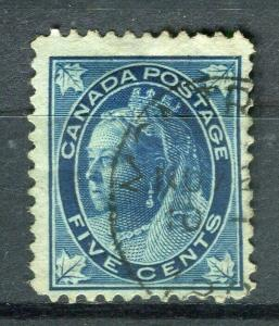 CANADA; 1898 early QV Maple Leaf issue fine used 5c. value