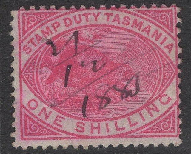 TASMANIA SGF29 1880 1/= ROSE-PINK USED