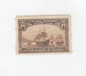 CANADA (MK3310) # 103 VF-MH  20cts QC 300TH /CARTIER'S ARRIVAL CAT VAL $400