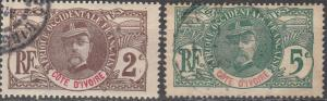 Ivory Coast #22, 24  F-VF Used CV $4.75 (A16801)