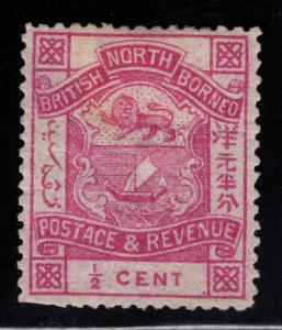 North Borneo Scott 35 MH* per 14 few cut perfs at bottom