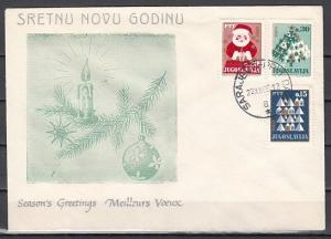 Yugoslavia, Scott cat. 845-847. Christmas issue. First day cover.