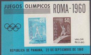 1960 Panama 576-577/B8b 1960 Olympic Games in Rim