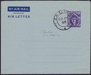 ZANZIBAR 1958 50C Aerogramme / air letter cto...............................6053