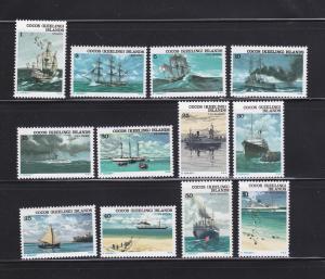 Cocos Islands 20-31 Set MNH Ships (A)