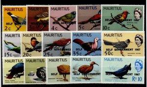 Mauritius 306-320 Set Mint Hinged